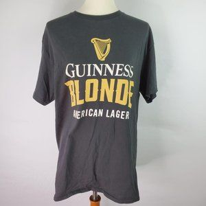 Guinness Blonde American Lager Tshirt Large Black